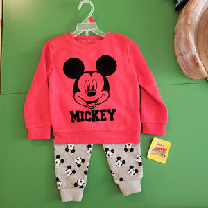 NWT Disney Mickey Mouse Sweatsuit Set 2T